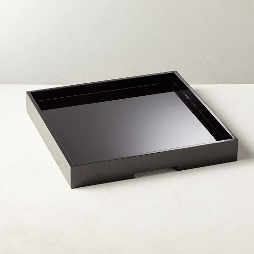 Hi-Gloss Large Black Square Tray