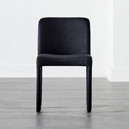 Hide Faux Leather Black Dining Chair
