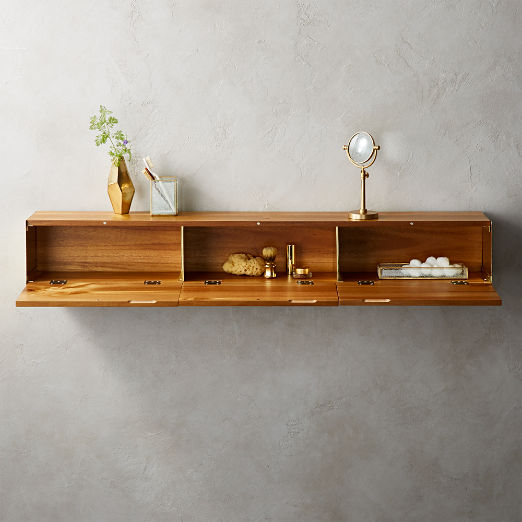 Hide N Seek Large Acacia Storage Shelf