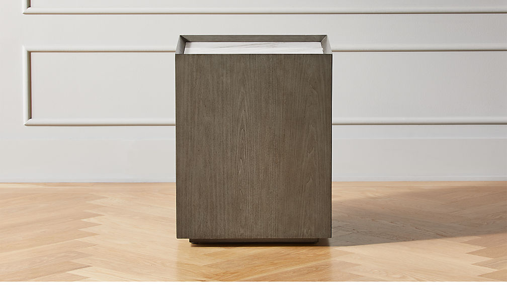 Hideaway Side Table with Storage - Image 1 of 6