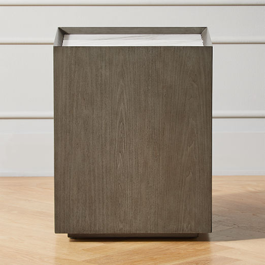 Hideaway Side Table with Storage