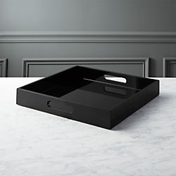Hi Gloss Square Black Tray