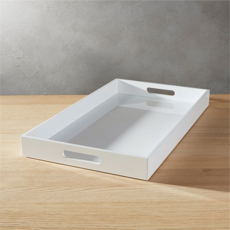 Hi Gloss Rectangular White Tray