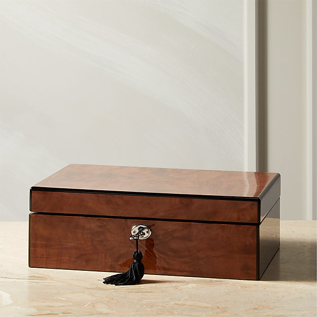 High Gloss Wood Jewelry Box - Image 1 of 7