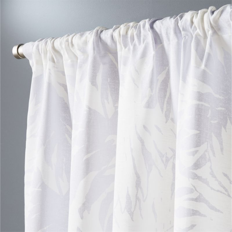 The Hill Side Palm Leaves Curtain Panel 48x108