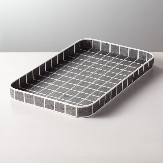 Hilo Lava Stone and Resin Tray