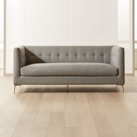 Holden Grey Tufted Sofa