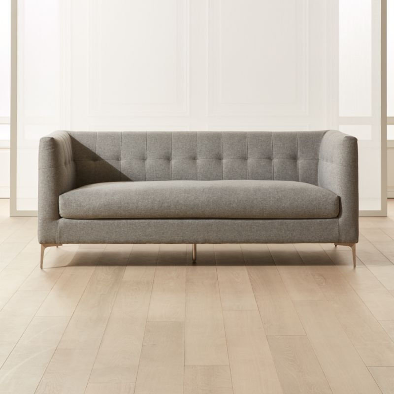 Holden Grey Tufted Sofa Reviews Cb2