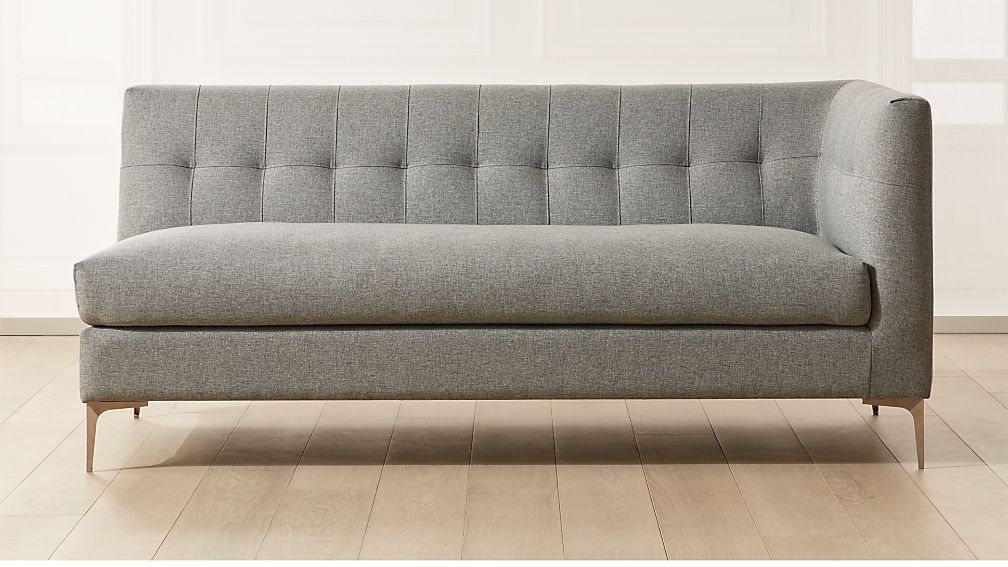 Holden Grey Tufted Right Arm Loveseat - Image 1 of 5