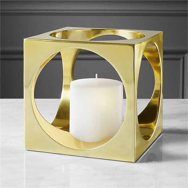 hole in the wall pillar candle holder + Reviews | CB2