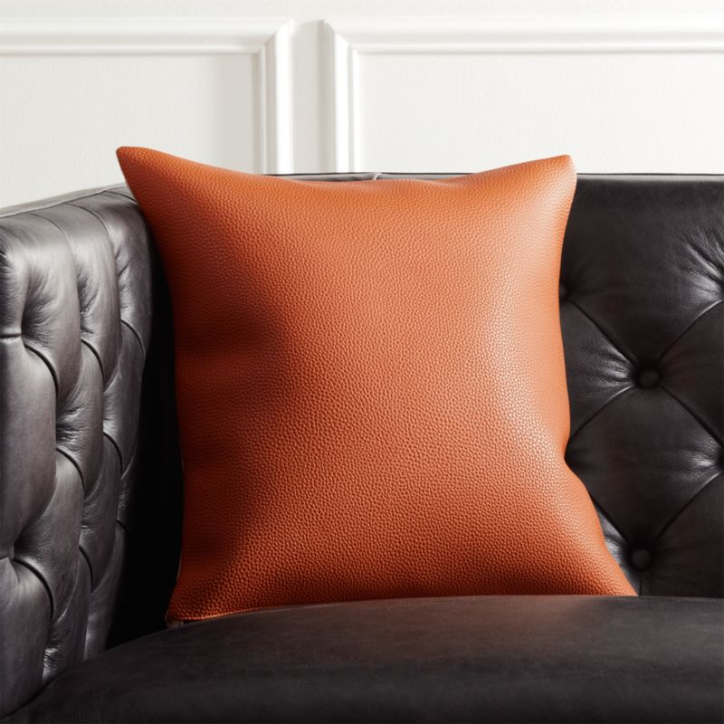 listing pillows faux pillow decorative il tan thick for leather cover pitx