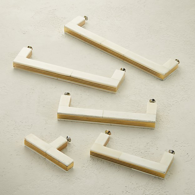 Bone and Brass Handles and Knob - Image 1 of 7