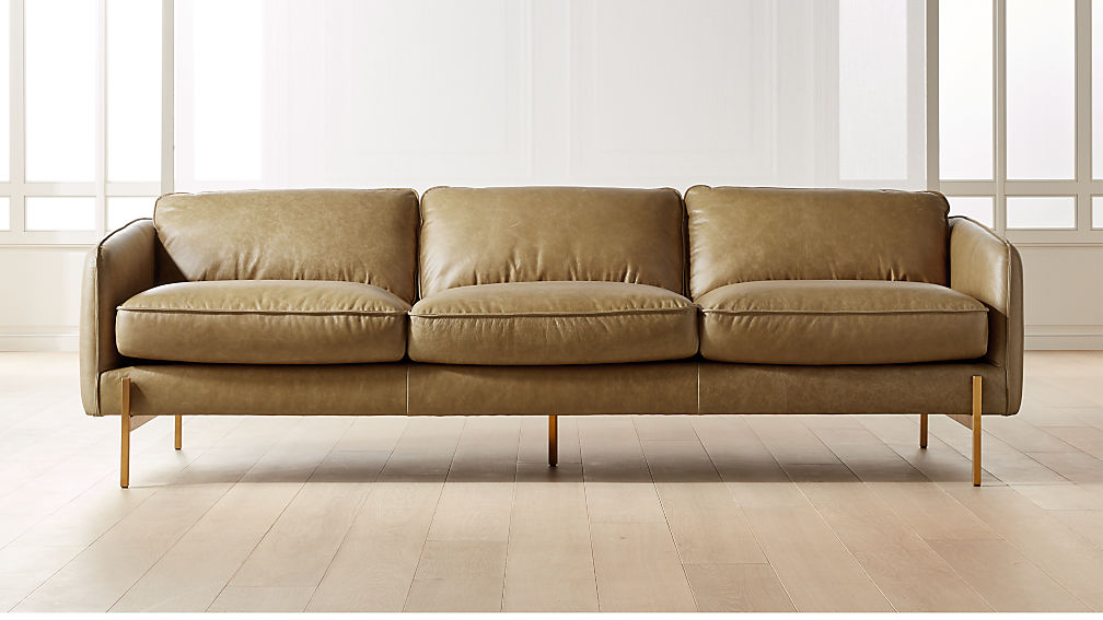 Hoxton Saddle Leather Sofa - Image 1 of 7