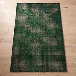 Disintegrated Green Fl Rug