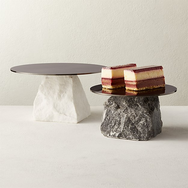 Hubbard Marble Cake Stands - Image 1 of 11