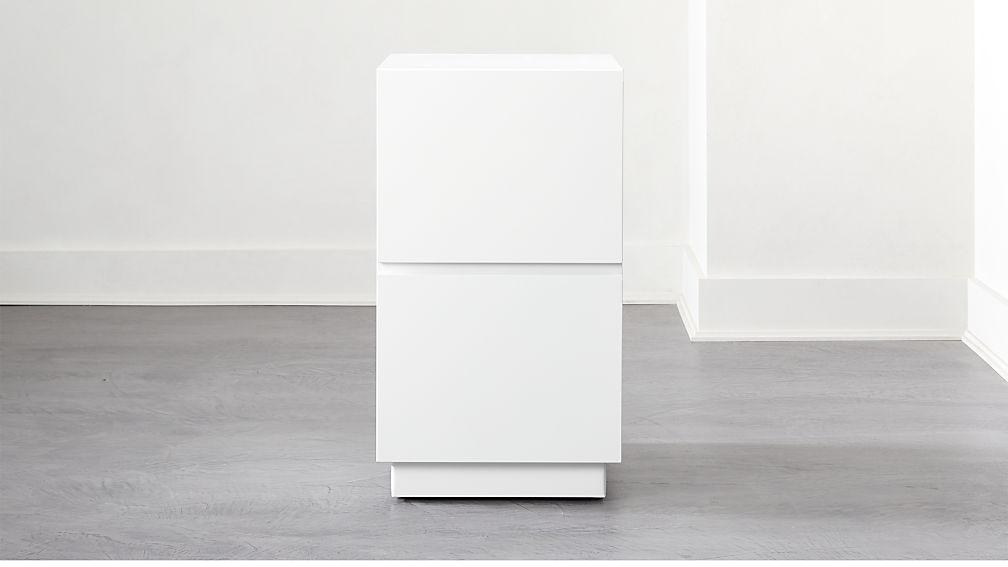Hudson 2-Drawer White File Cabinet - Image 1 of 8