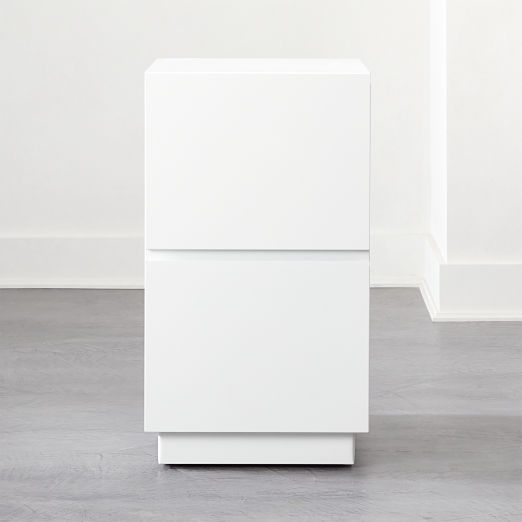 Hudson 2-Drawer White File Cabinet