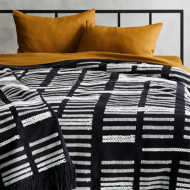 Hydrus Black and White Blanket - Image 1 of 2