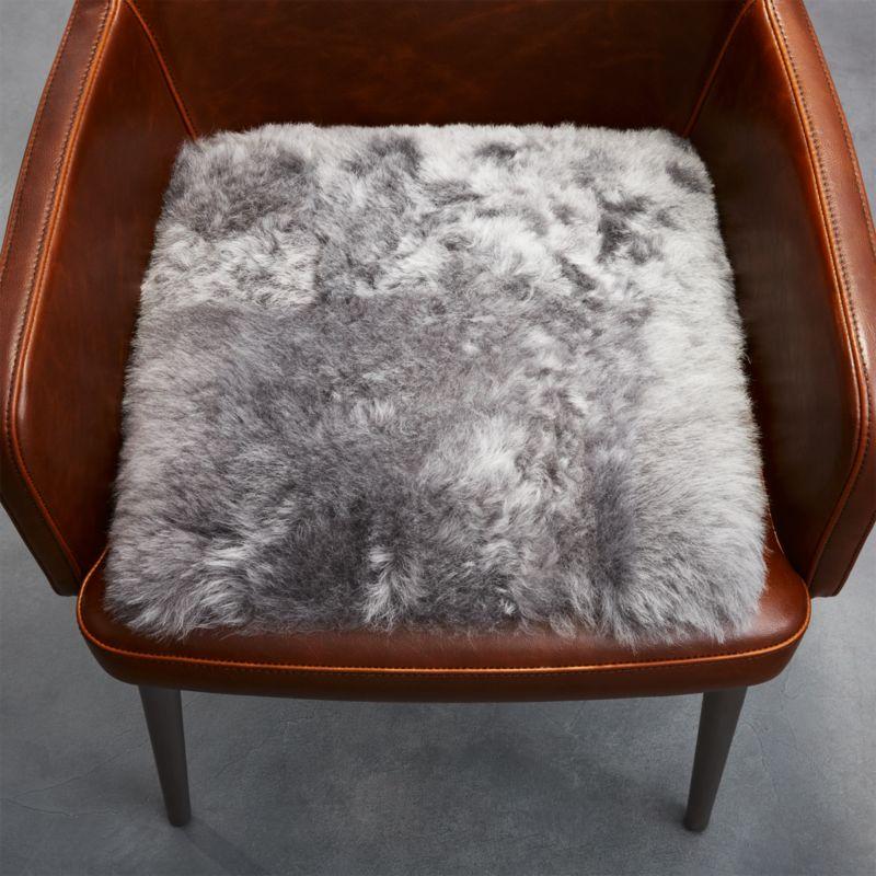 Grey Icelandic Sheepskin Chair Pad Reviews Cb2