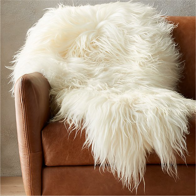 Icelandic Sheepskin Throw Reviews Cb2