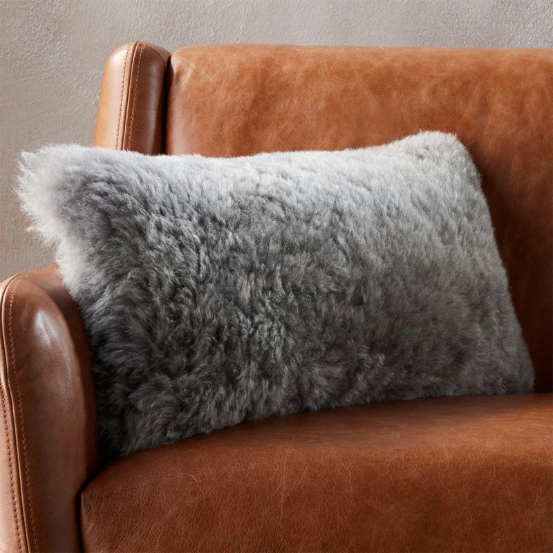 throw decor htm p gray pillow sheepskin mongolian