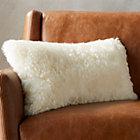 """23""""x11"""" icelandic shorn sheepskin pillow"""