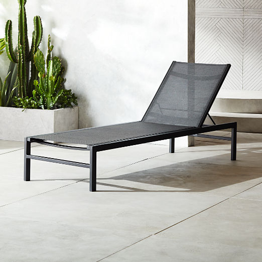Idle II Black Sun Lounger