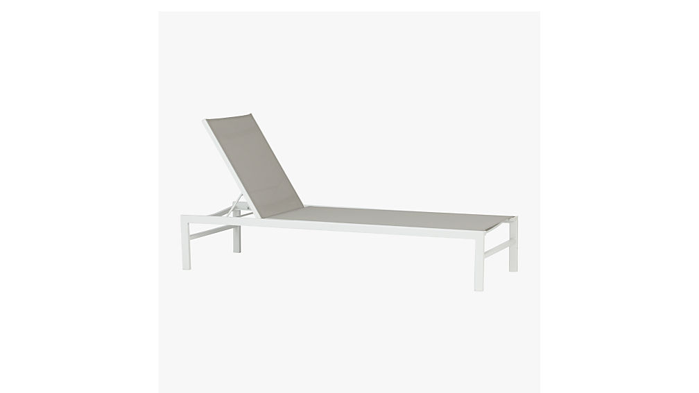 idle grey outdoor chaise lounge reviews cb2 - Chaise Metal