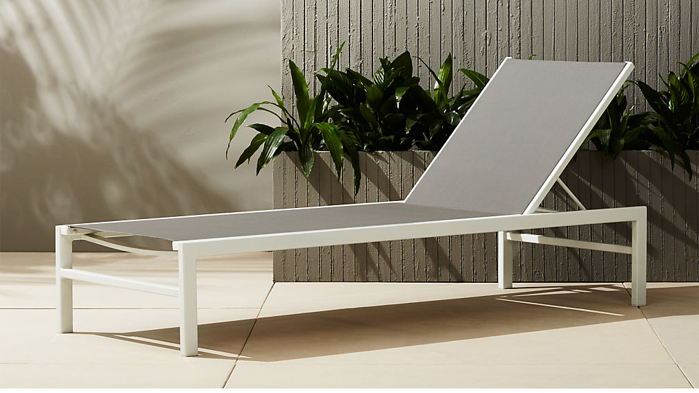 Outdoor Chaise Lounge.Idle Grey Outdoor Chaise Lounge