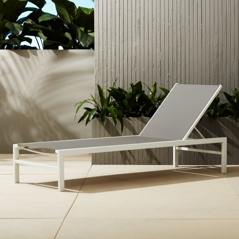 Idle Grey Outdoor Chaise Lounge + Reviews | CB2