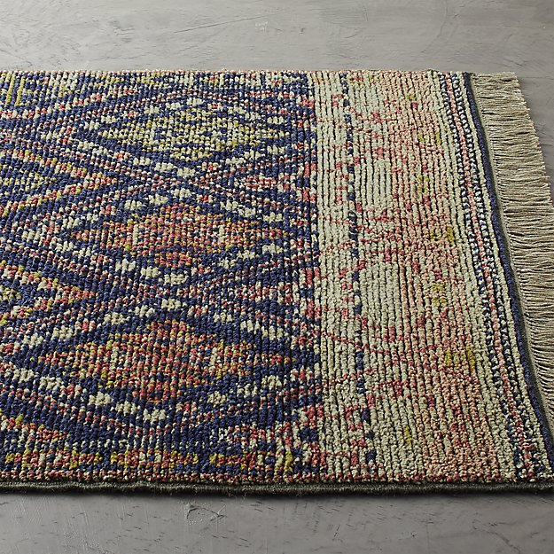 Indira Faded Blue Rug - Image 1 of 9