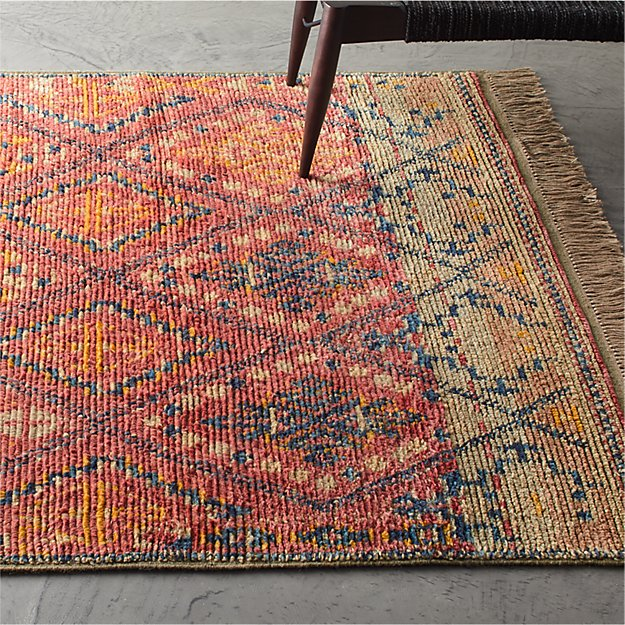Indira Faded Red Rug - Image 1 of 11