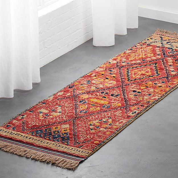 Indira Faded Red Runner 2.5'x8' - Image 1 of 3