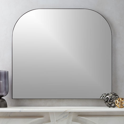 Infinity Black Mantel Mirror