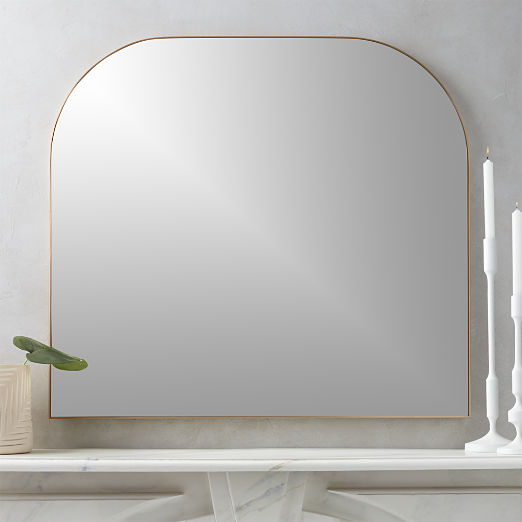 Infinity Brass Mantel Mirror