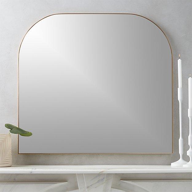 Infinity Brass Mantel Mirror - Image 1 of 5