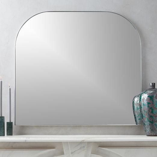 Infinity Silver Mantel Mirror