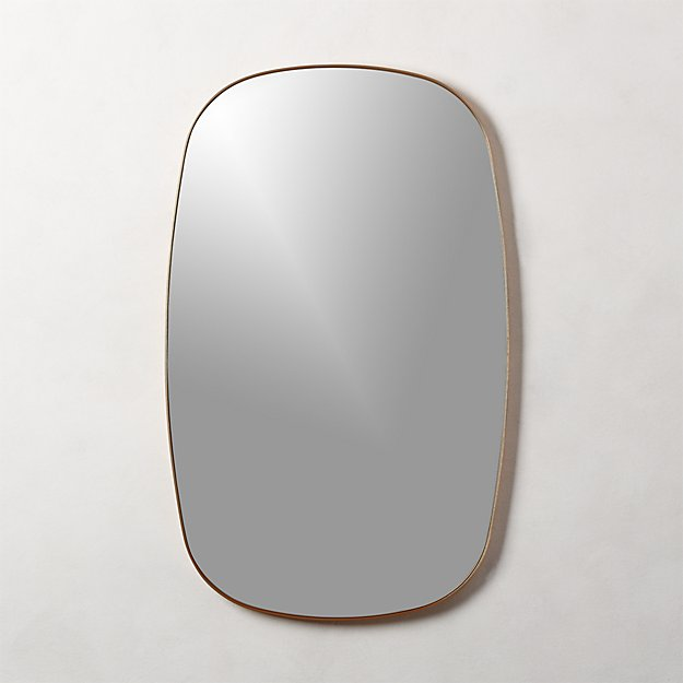 Infinity Brass Oblong Wall Mirror - Image 1 of 7