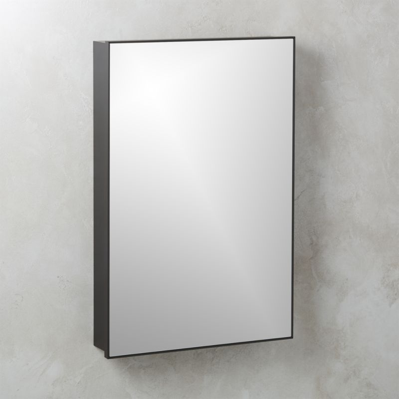 Infinity Recessed Mirror Medicine Cabinet Large Black 24 X36 Reviews Cb2