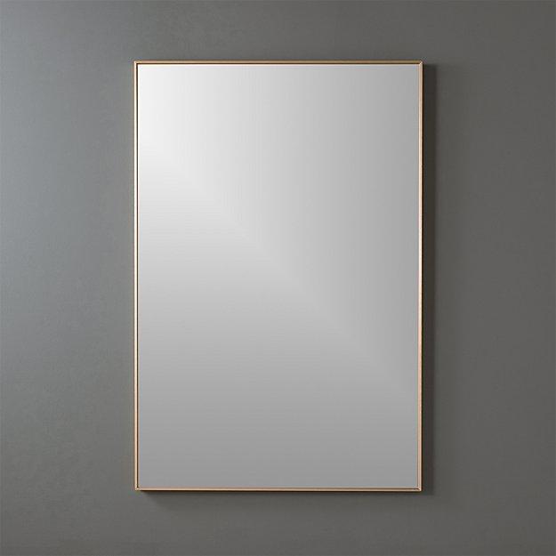 infinity brass 24 x36 rectangular wall mirror reviews cb2