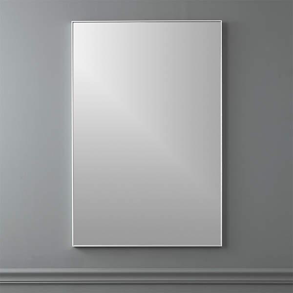 Infinity Silver Rectangular Wall Mirror, Rectangular Bathroom Mirror