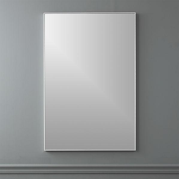 Infinity 24 X36 Rectangular Wall Mirror Reviews Cb2
