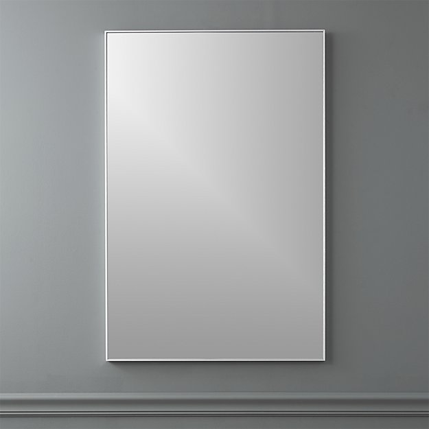 Infinity 24 Quot X36 Quot Rectangular Wall Mirror Reviews Cb2