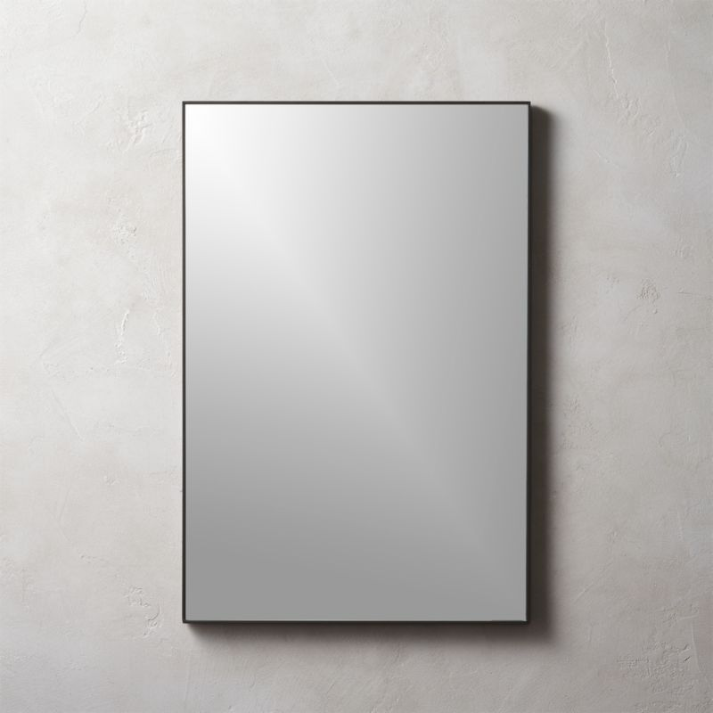 Infinity black rectangle mirror 24 x36 reviews cb2 - Pictures of bathroom mirrors ...