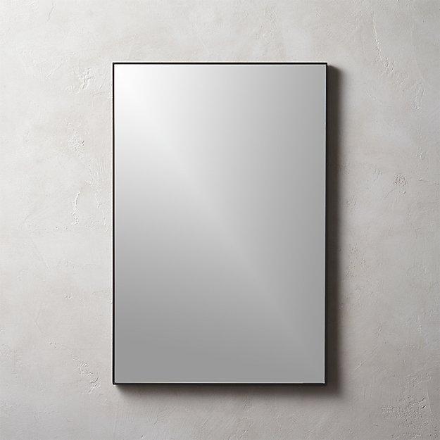 Infinity Black Rectangle Mirror 24 Quot X36 Quot Reviews Cb2