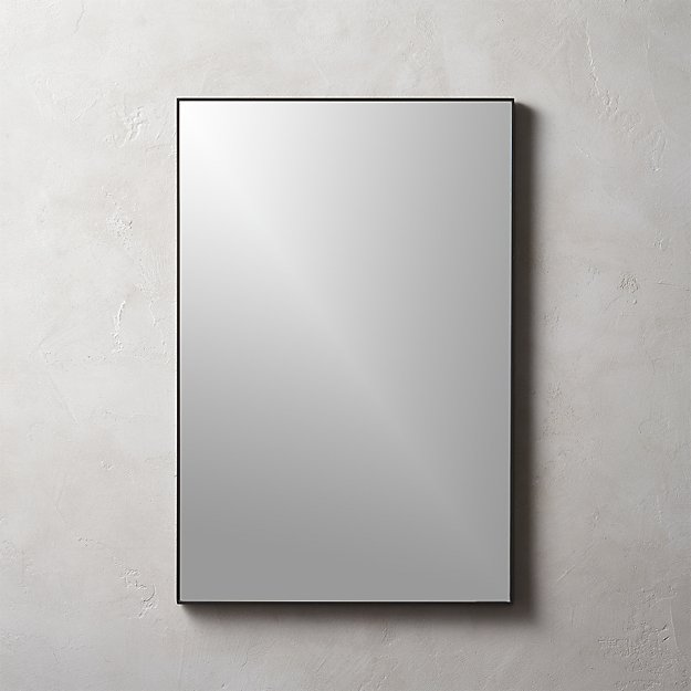 "Infinity Black Rectangle Mirror 24""x36"" - Image 1 of 9"
