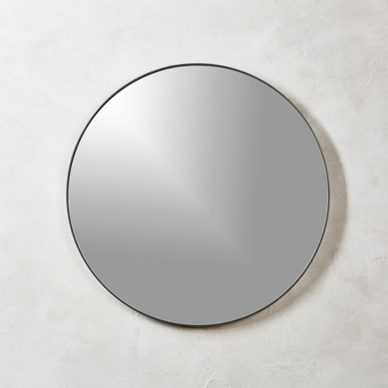 Infinity Black Round Wall Mirror 24