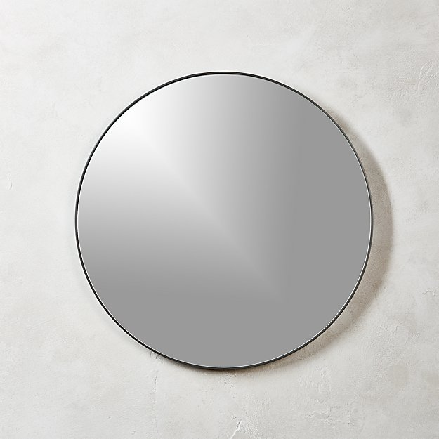 Infinity Black Round Wall Mirror 24 Reviews Cb2