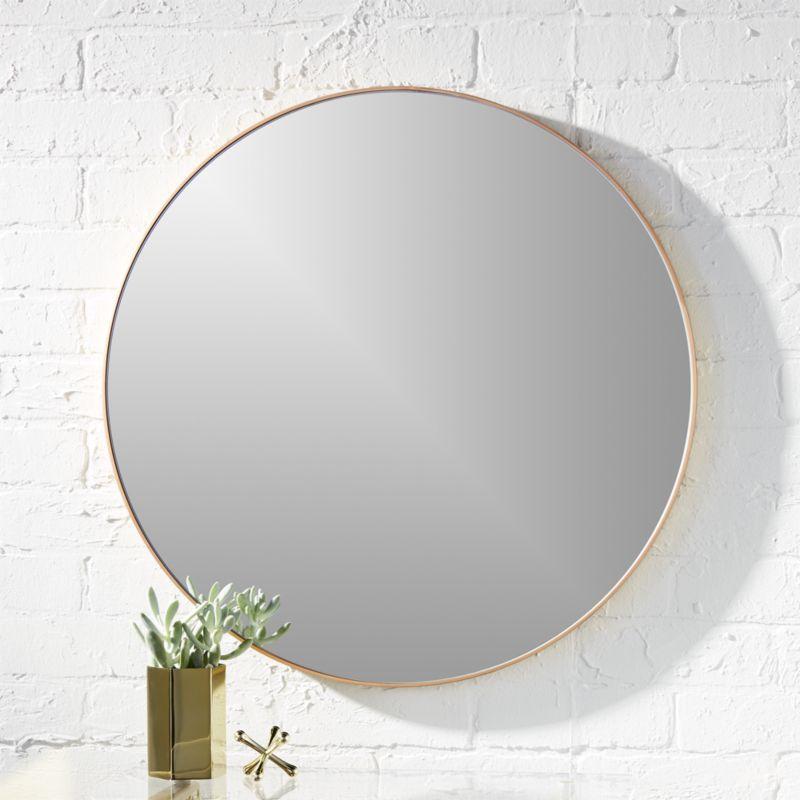 gold round mirrors | CB2