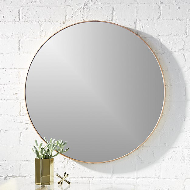Infinity 24 Quot Round Brass Wall Mirror Reviews Cb2
